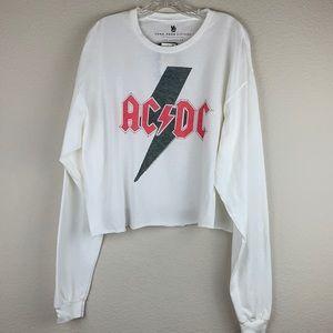 NWT Junk Food AC/DC Long Sleeve Crop T-Shirt
